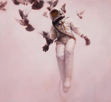 Jeremy Geddes, Bialy kosmonauta, obraz