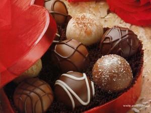 czekoladki w pudełku