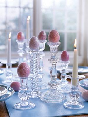 wielkanoc, świece, jajka
