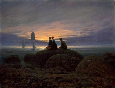 """Caspar David Friedrich - """"Wschód ksieżyca nad morzem"""""""