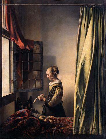 """Jan Vermeer van Delft - """"Dziewczyna czytająca list przy otwartym oknie"""""""