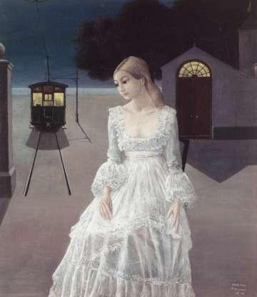 "Paul Delvaux - ""Suknia panny młodej"" (1976)"