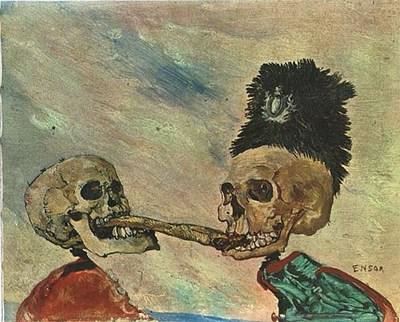 James Ensor, Szkielety walczące o śledzia