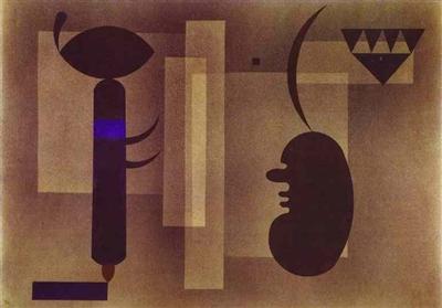 "Wassily Kandinsky - ""Gloomy Situation"""
