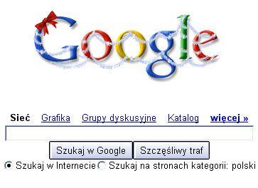świąteczne logo Google