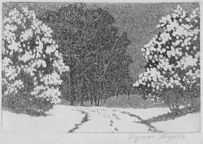 "Lyman Byxbe ""Winter Snow"""