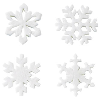 płatki śniegu - pastillage
