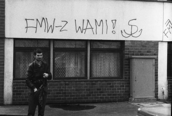 Strajk Studencki  na UG - ściana budynku