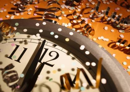 Zegar, Szczęsliwego Nowego Roku