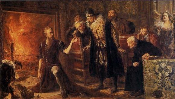 """Jan Matejko - """"Alchemik Sedziwoj"""" (1867)"""