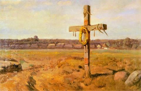 """Józef Chełmoński - """"Krzyż"""", obraz"""
