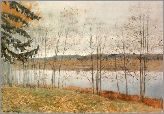 """Izaak I. Lewitan - """"Jesień"""" (1896)"""