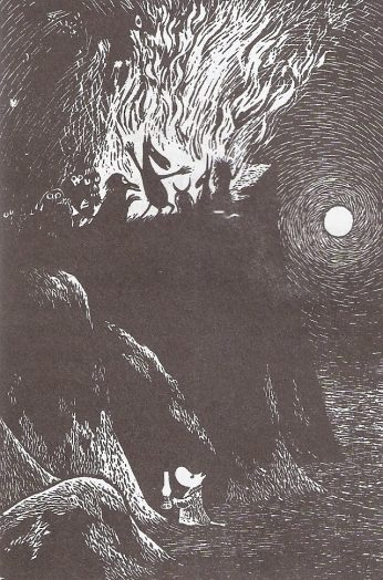 Zima Muminkow, ilustracja