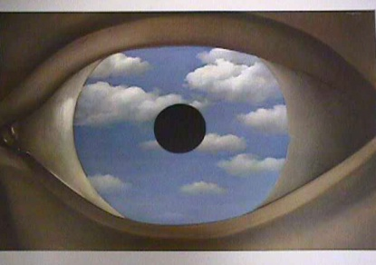"Rene Magritte - ""Fałszywe lustro"""