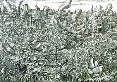 Trzesienie ziemi w Lizbonie, grafika