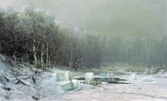 """Arsenij I. Mieszczerski - """"Zima. Lodołamacz"""" (1878)"""