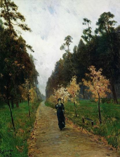 """Izaak Lewitan - """"Jesienny dzień. Sokolniki"""""""