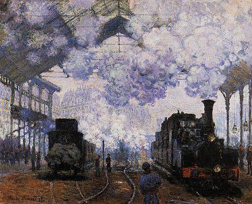 "Claude Monet - ""Pociągi na dworcu Saint-Lazare"","