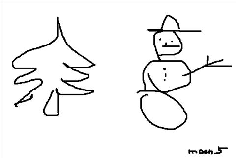 zima, rysunek