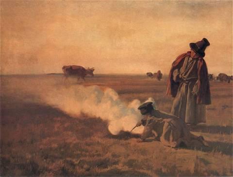 """Chełmoński - """"Dymy. Jesień"""" (1897)"""
