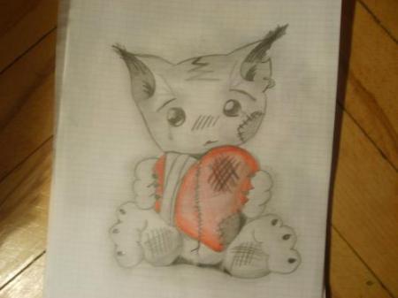 Kotek Emo, Rysunek