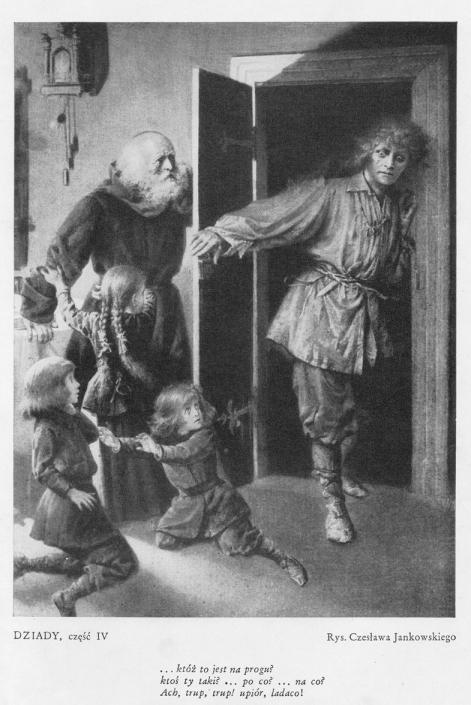 Upiór, Dziady IV, rysunek Jankowskiego