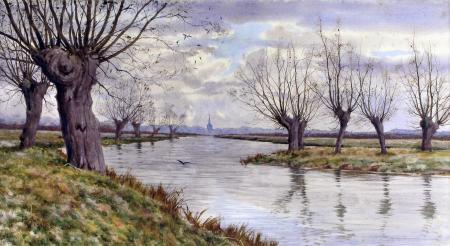 "Arthur Anderson Fraser, ""The Ouse, Bedford from Newenham"""