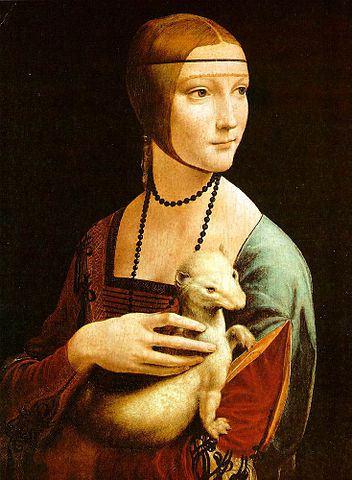 """""""Dama z łasiczką"""" - Leonardo Da Vinci"""
