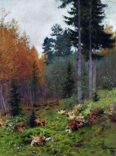 jesienią-w-lesie, lewitan, obraz