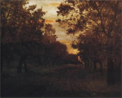 Lewitan, Droga w lesie