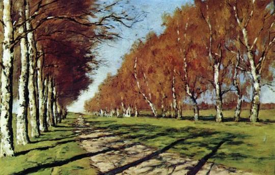 """Izaak Lewitan - """"Duża droga. Słoneczny jesienny dzień"""""""
