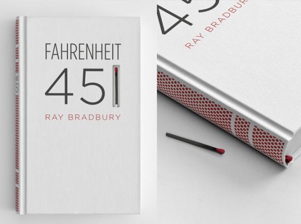 Fahrenheit 451, okładka - pudełko zapałek