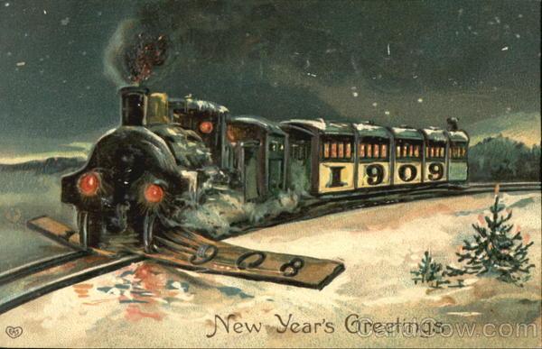 stara kartka noworoczna