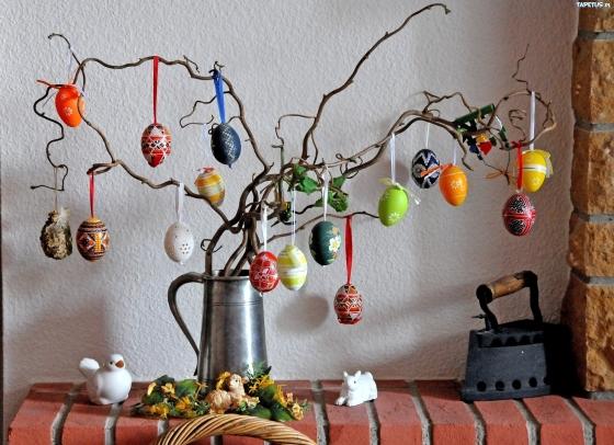 wielkanocne jajeczka, dekoracja