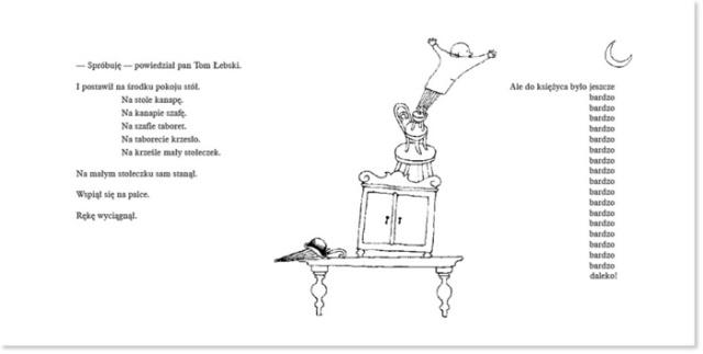"Franciszka Themerson, ilustracja do tekstu ""Pan Tom buduje dom"" Stefana Themersona, rysunek"
