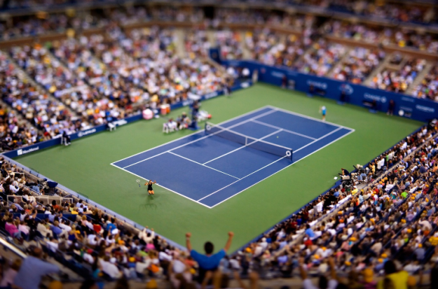 Tenis, Sharapova wygrywa US Open 2006, tilt-shift