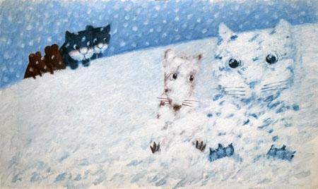 kot-i-mysz-w-sniegu