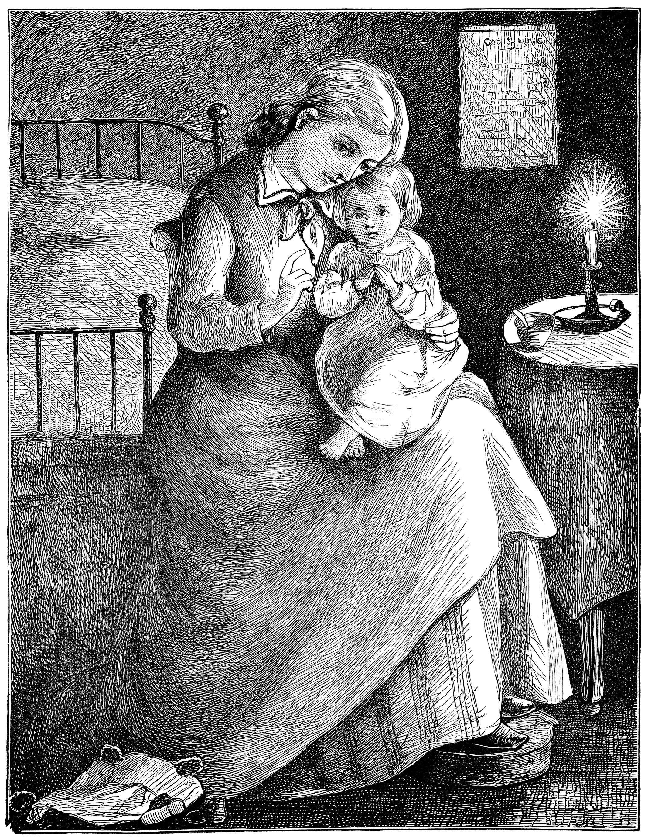 matka-i-dziecko-wieczorna-modlitwa