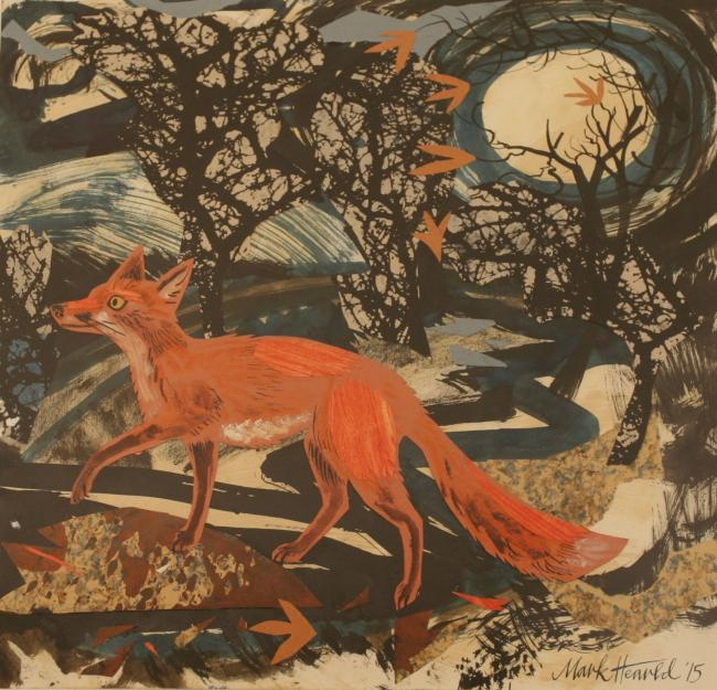 """Vixen"", autor: Mark Hearld, 2015"